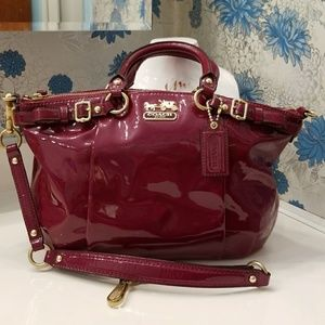 Coach Madison Patent Leather Sophia in Orchid